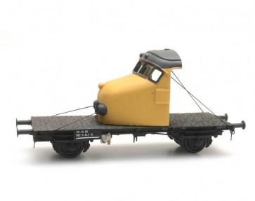 Artitec 20.316.04 - GTU Draagwagen met neus 'Hondekop', geel  train 1:87