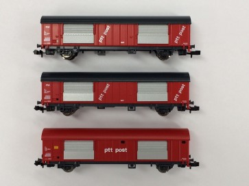 Fleischmann 834801 - 3-tlg. Set Postwagen ptt Post
