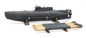 Artitec 387.12 - WM Kleine-U-Boot Seehund + Torpedos  ready 1:87