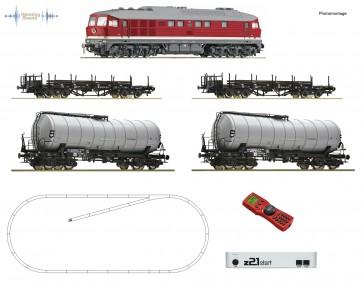 Roco 51328 - Z21 start Digitalset: Diesellokomotive BR 142 mit Güterzug, OP=OP!