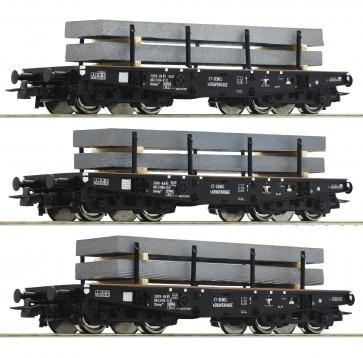 Roco 67194 - Drie zwaarlastwagens met staal-brammen
