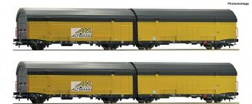 Roco 76408 - 2er Set Autotransportwag.