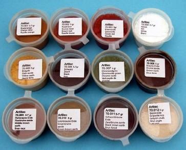 Artitec 70.000 - Set poeders 12 Kleuren (modelbouwpoeder)  ---