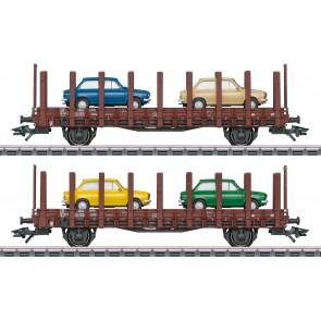 "Marklin 46404 - Set platte wagens ""DAF 66"", NS"