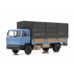 Artitec 487.051.01 - DAF kantel-cabine, open bak, huif, cab A, blauw  ready 1:87