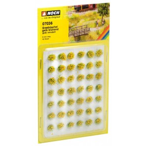 """Noch 07036 - Grasbüschel """"blühend"""", gelb"""