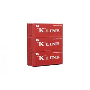 Piko 56220 - Container 3er-Set 20' K-Line