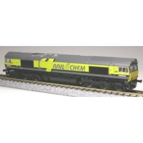 Kato K10814 - Dieselloc Class 66 Rail4Chem 66020 OP=OP!