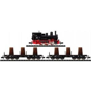 Trix 11457 - Stoomloc BR89 2 goederenwagens + belading