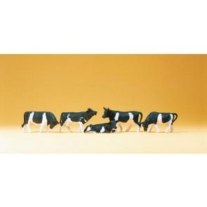 Preiser 14155.z - 1:87 Koeien zwartbont