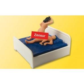Viessmann 1504 - H0 Sexy Liebespaar im Bett