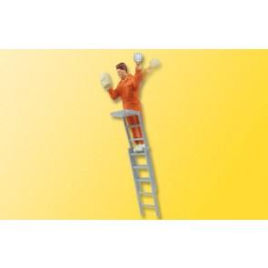 Viessmann 1517 - H0 Plakatkleber auf Leiter