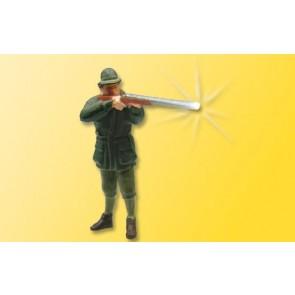 Viessmann 1529 - H0 Jaeger mit Gewehr mit Muen
