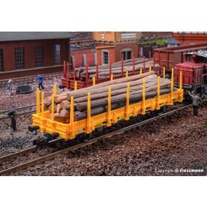 Kibri 16200 - H0 Niederbordwagen, gelb