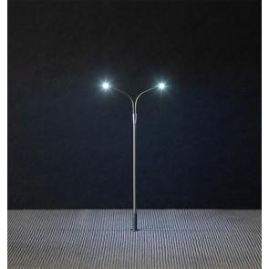 Faller 180201 - LED-Straatverlichting, dubbele gebogen straatlantaarn