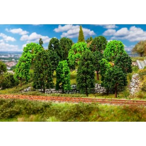 Faller 181524 - 15 Loofbomen, gesorteerd