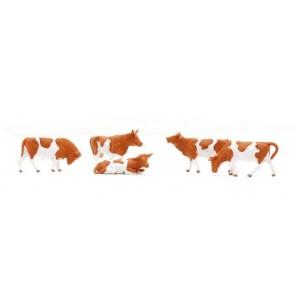 Preiser 14155.r - 1:87 Koeien roodbont