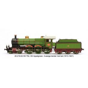 Artitec 22.219.02 - SS 752 appelgroen 3-as tender (13-21), LokSound V4.0
