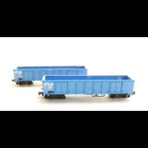 Hobbytrain H23417 - 2 goederenwagens Eanos NS OP=OP!
