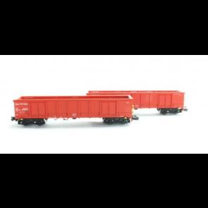 Hobbytrain H23418 - 2 goederenwagens Eanos NS Cargo OP=OP!