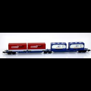 Hobbytrain H23716 - Containerdraagwagen DB OP=OP!