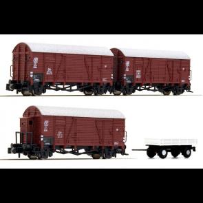 Hobbytrain H24003 - 3 gesloten goederenwagens DB OP=OP!