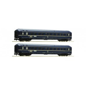Fleischmann 864708 - 2er Set Schlafwagen, blau, WLA