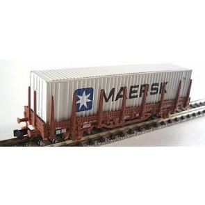 Hobbytrain H23005 7 - Rongenwagen met container DB