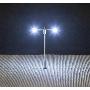 Faller 272223 - LED-Straatverlichting, aanzetlamp, dubbele uithouder