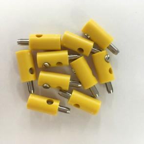 Brawa 3051 - Stecker rund, gelb [10 Stück]