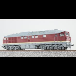 Esu 31163 - Diesellok, H0, BR 132, 132 547, DR Ep IV, bordeauxrot, Vorbildzustand um 1984, LokSound, Raucherzeuger, DC/AC