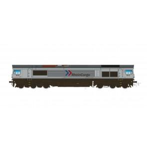 Esu 31282 - Diesellok H0, C66 RheinCargo DE 62, Ep VI, Vorbildzustand um 2018, Silber,  Sound+Rauch, DC/AC