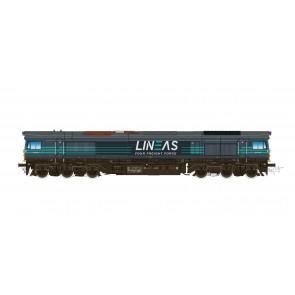 Esu 31283 - Diesellok H0, C66 Lineas 513-10, Ep VI, Vorbildzustand um 2018, Dunkelblau/Türkis  Sound+Rauch, DC/AC