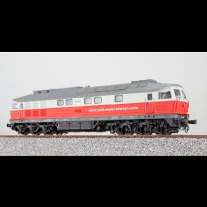 Esu 31351 - Diesellok, H0, BR 132, 232 409, East-West, Ep VI, Rot-Weiß, Vorbildzustand um 2015, LokSound, Raucherzeuger,  DC/AC