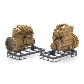 Artitec 316.099 - Industrie dieselmotor op transportpallet  (2x)