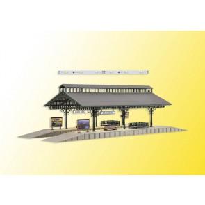 Vollmer 43545 - H0 Bahnsteighalle mit LED-Bel