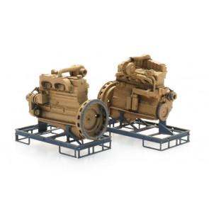 Artitec 387.510 - Industrie dieselmotor op transportpallet  (2x)