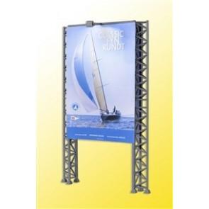 Kibri 39809 - H0 Reklamewand m.2 Flutlichts