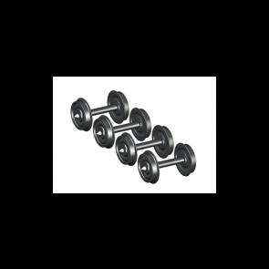 Esu 41201 - Scheibenradsatz AC für Spitzenlagerung, Güterzugwagen, Durchmesser 10,8mm, Achslänge 22,0mm. 4 Stück Packung