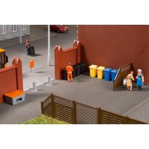Auhagen 41649 - Mülltonnen mit Zubehör