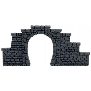 Noch 44420 - Tunnel-Portal, Kunststoff, 1-gleisig, 2 Stück,