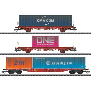 Marklin 47580 - Set containerwagens Lgs 580
