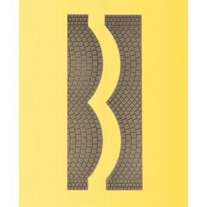 Vollmer 48244 - H0 Straßenplatte Kopfstein