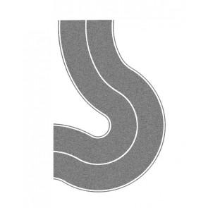 Noch 48590 - Landstraße Universalkurve, grau,