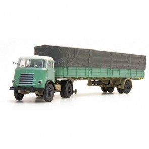 Artitec 487.020.01 - DAF trekker met trailer groen en huif OP=OP!
