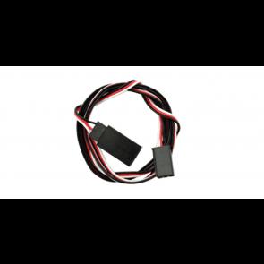 Esu 51810 - Servoverlängerungskabel: 3 pol J/R Stecker auf  Buchse J/R / Futaba, Länge: 75cm, AWG 28, RETAIL