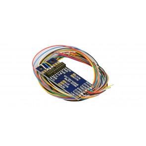 Esu 51958 - Adapterplatine PluX22 für 9 Ausgänge, Lötkontakten und angelöteten Kabeln