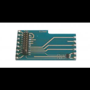 Esu 51968 - Adapterlokplatine L-Form wie 6090x, mit AUX3+AUX4, für LokSound V3.5/V4.0,  LokPilot V3.0/V4.0 mit 21MTC-Schnittstelle