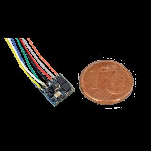 Esu 53620 - LokPilot Fx Nano, Funktionsdecoder MM/DCC, 8-pol. Stecker nach NEM 652 mit Kabelbaum