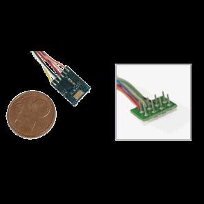 Esu 54683 - LokPilot micro V4.0, Multiprotokolldecoder MM/DCC/SX, mit 8-poligem Stecker NEM 652 mit Kabelbaum